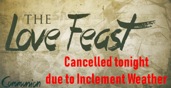 Love Feast Cancelled